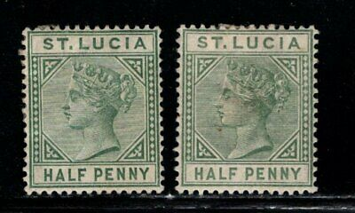Item No. A6966 – St. Lucia – Scott # 27, 27a – MH