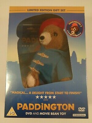 Paddington DVD Limited Edition Set with Classic Soft Toy Boots Hat Cuddly *NEW*