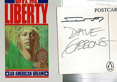 GIVE ME LIBERTY  Penguin Book 1991 - con autografi di Miller e Gibbons