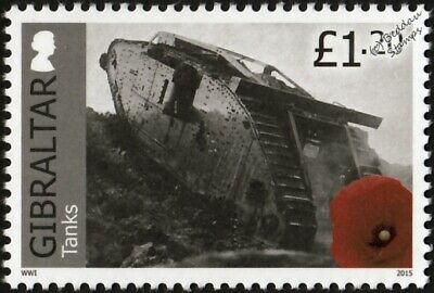 WWI British Army Mark IV Female Tank Stamp (2015 Gibraltar)