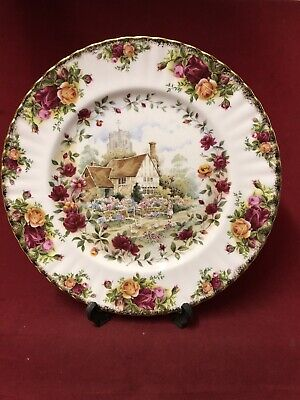 ROYAL ALBERT OLD COUNTRY ROSE  WAL PLATE 26 Cm  COTTAGE GARDEN