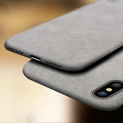 For iPhone XS Max XR X 8 7 6 Shockproof Thin Soft TPU Sandstone Matte Case Cover