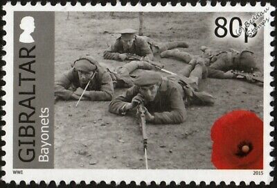 WWI British Army Soldiers Rifle and Bayonet Training Stamp (2015 Gibraltar)