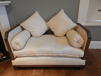 Antique Chaise Lounge / Sofa with Reclining ends