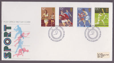 Great Britain 1980 FDC Post Office Cover Sport Rugby Cricket Boxing Edinburgh