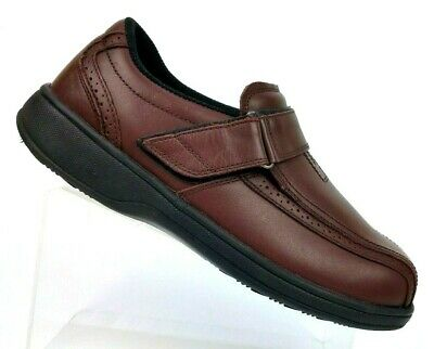 4b3371cf3d Orthofeet 587 Brown Leather Comfort Diabetic Therapeutic Shoe Men's 9.5  XWide 4E