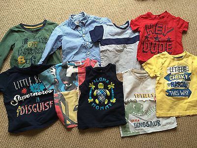 bag of toddler boys clothing -  shorts, 9 tops for age 12-24 months all good con