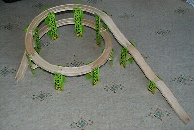 BigJigs rail wooden high level track part of train set Brio Compatible