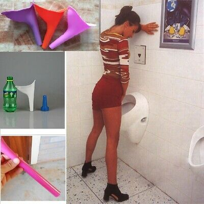 Gadget Woman Elegance Travel Soft Silicone Urinal Toilet Funnel Tube Camping