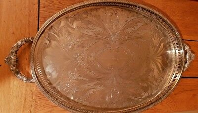 Vintage silver plated tray presented by PYE Ltd, Silver Jubilee 1977