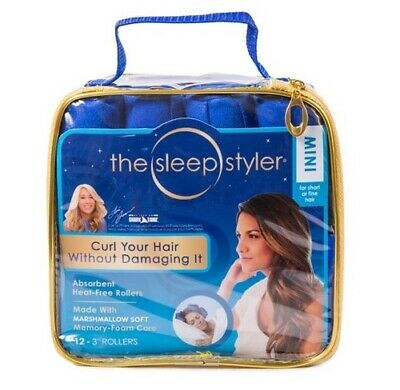 SET OF 2! The Sleep Styler 12 Pack Hair Rollers Mini Size For Short Or Fine Hair