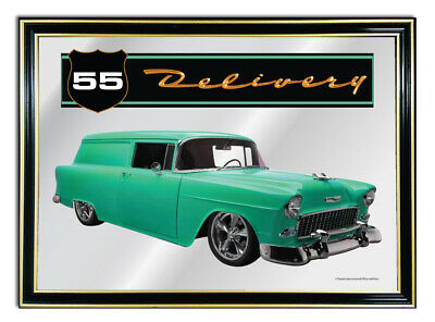 Bar Mirror-Picture-Sign-Art-Suit-Aqua-1955-Chev-Delvivery-Enthusiast