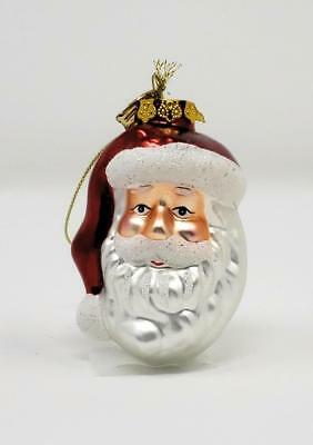 Christmas Ornaments - Thomas Pacconi - Blown Glass Handmade - Santa Head