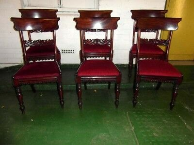 Set Of Six Early Victorian Dining Chairs