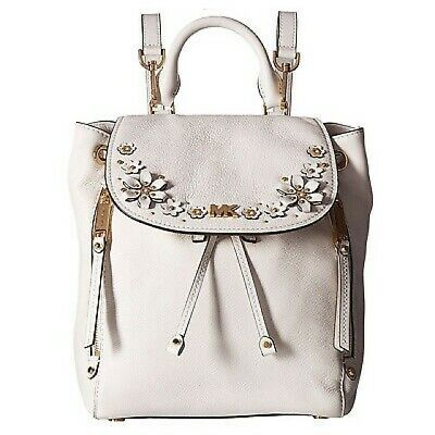 a024f2396887 Michael Kors NWT $368 Evie Flower Garden Convertible Bag Backpack White  Leather