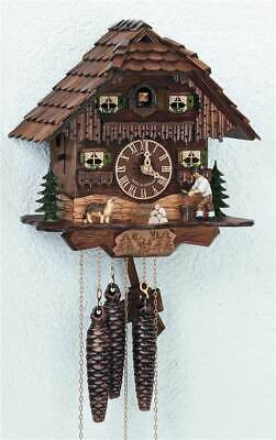 1-Day Black Forest House and Moving Wood Chopper Cuckoo Clock [ID 93440]