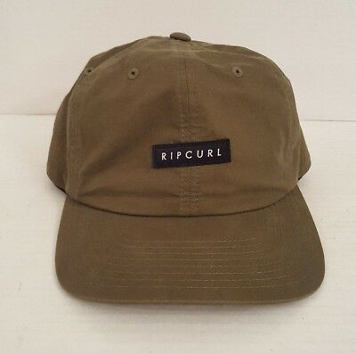 bfe54d727b6c87 Rip Curl Men's Baseball Hat Cap Fatigue Green Nylon Logo Label Snap Back