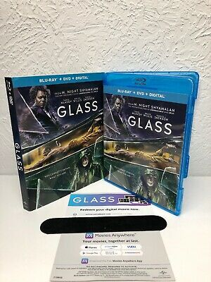 Glass Blu Ray + Digital (NO DVD INCLUDED) Bruce Willis, Samuel L Jackson, McAvoy