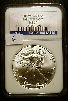 1991 Silver $1 ASE American Eagle NGC MS69 $55 Blast White Luster (R6)
