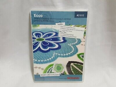 NEW Ecco Crafter's Collection # 21012 - 30 Embroidery Designs OESD Bernina CD