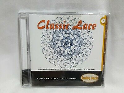 NEW Baby Lock - Classic Lace Embroidery Designs CD BLDP-P12 SEALED - Read