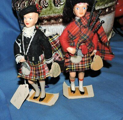 peggy Nesbit 2 scottish dolls with tags cost $75ea SELL BOTH CHEAP