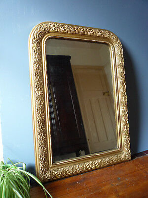 Antique French Louis Philippe Style Mirror Gilded