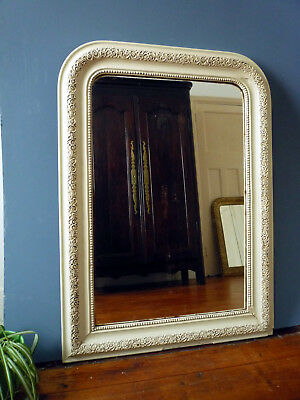 Large Painted Louis Philippe Style French Antique Mirror