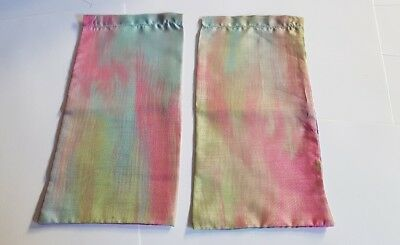 Dolls House Accessories Handmade Satin Multicolored Curtains @FREE POST@