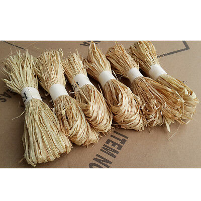 1 pc/set raffia natural reed tying craft ribbon paper twine 30g SE