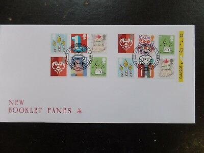 G.B. Smilers 2015 Booklet pane FDC cancelled Lover Salisbury