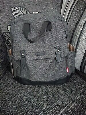 Babymel Robyn Changing Bag Backpack In Tweed Excellent condition