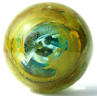 Beautiful Early Vtg/Retro isle Of Wight Glass Paperweight Michael Harris