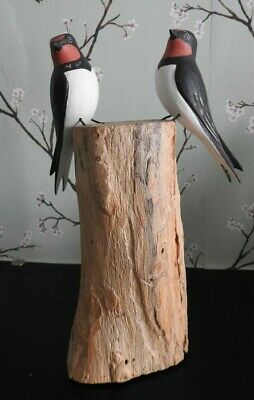 Archipelago Hand Carved Wooden Birds Puffin On Wood Seasise Bathroom