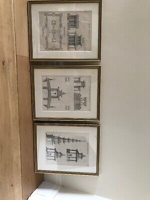 Architect Chinese Prints Framed X3