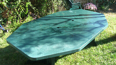 TABLE DE JARDIN hexagonale 8 à 10 places pliante - EUR 60,00 ...