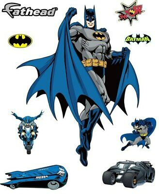 SUPER Hero Batman Wall Stickers Decals Vinyl Art Nursery Decor Kids Boys Room