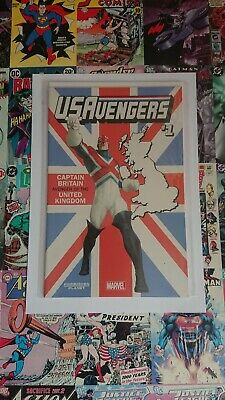 U.s Avengers #1 Captain Britain Variant. New Bagged And Boarded