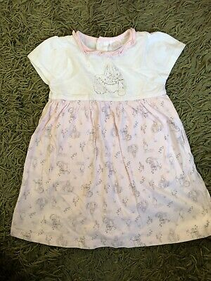 TU BNWOT Peter Rabbit Pink And White Baby Girl Dress 9-12 Months