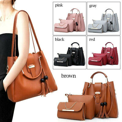 7209 3 Pcs/Set Tote Bag Beauty Women Elegant Shoulder Bag Handbag