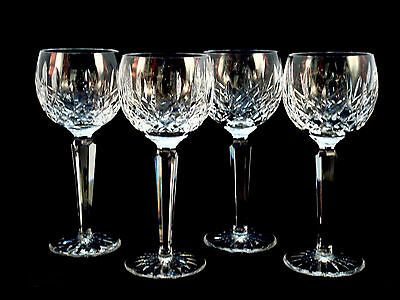 Waterford Crystal Lismore Hock Wine Glasses Set of 4 Mint!