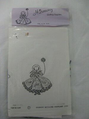 Paper Quilling Craft The Girl Kit Crinoline Lady With Balloon