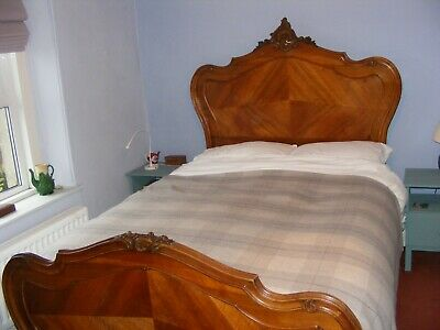 King size Louis XV style double bed complete with base and mattress