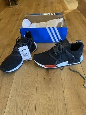 Adidas Men's NMD_R1 Black & Red , Limited Edition , Size 9.5 UK  , EU 44 ,AQ4498