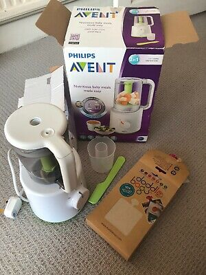 Philips Avent Baby Food Maker & 10 Refillable Pouches
