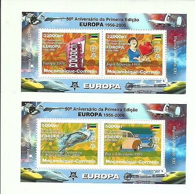 Mozambique 2006 - 50 Years Europa CEPT S/S's MNH