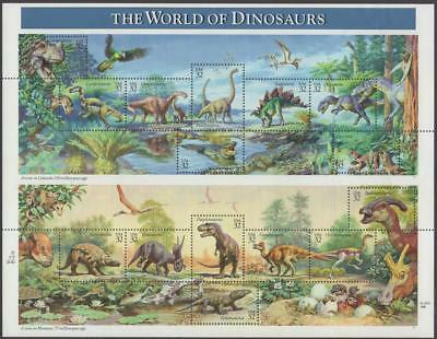 Scott # 3136 - US Souvenir Sheet Of 15 - The World Of Dinosaurs - MNH - 1997
