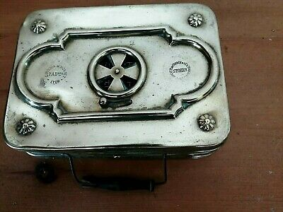 Early 20Th Century French Brass Carriage Foot Warmer Complete