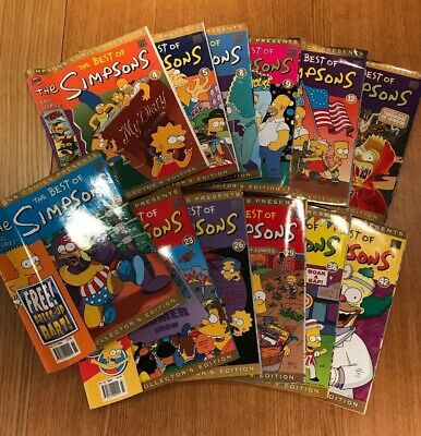 The Best Of The Simpsons Collectors Edition Magazines Bundle 12 Magazines