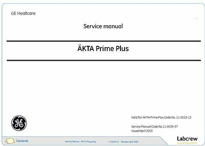 AKTA  Service Manuals   G.E. Healthcare